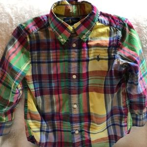 Ralph Lauren madras plaid shirt 2T